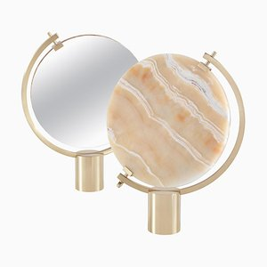Honey Onyx Naia Table Mirror by Ctrlzak
