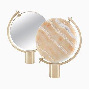 Specchio da tavolo Naia Honey onyx di Ctrlzak