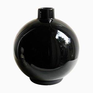 Irena Ceramic Black Vase by Malwina Konopacka