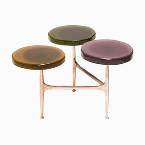 Agatha Coffee Table with 3 Tops by Draga & Aurel