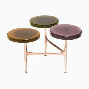 Agatha Coffee Table with 3 Tops by Draga & Aurel
