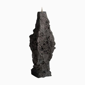 Geo Primitive Ceramic and Brass Candle Stand by Niclas Wolf