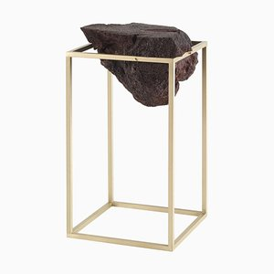 Brass Antivol Tall Side Table by Ctrlzak