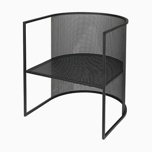 Black Steel Bauhaus Lounge Chair from Kristina Dam Studio