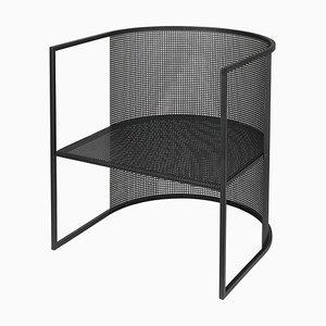 Sillón Bauhaus de acero negro de Kristina Dam Studio