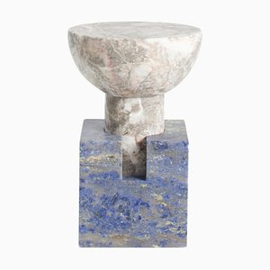 Table d'Appoint Blu Block par Anna Karlin