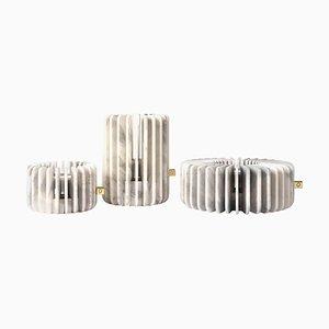 Calacatta Orion Kerzenhalter Set von Dan Yeffet