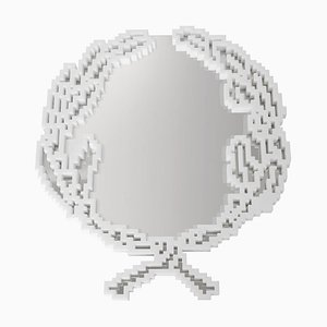 Kleiner Emblema Wandspiegel von Michele Chiossi