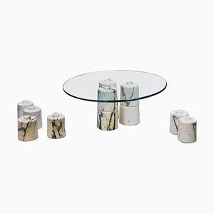Tavolino da caffè basso in marmo di Samuele Brianza