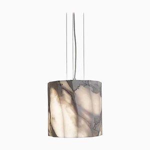 Grande Lampe à Suspension Flame en Marbre par Marmi Serafini