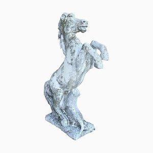 Statua da giardino neoclassico a forma di cavallo da giardino, anni '30