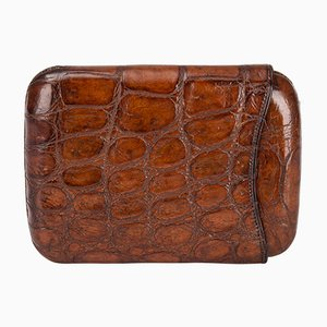 20th Century British Crocodile Leather Cigar Case, 1930s