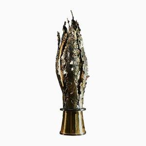 Bronze Tischlampe, Frankreich, 1970er