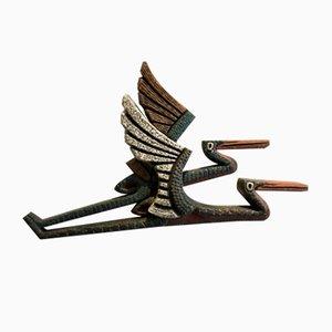 Scultura a forma di uccelli in terracotta, anni '60