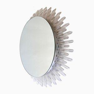 Large German Mid-Century Modern Sunbeam Mirror, 1970s