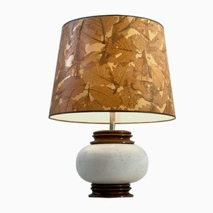 French Ceramic Table Lamp, 1970s