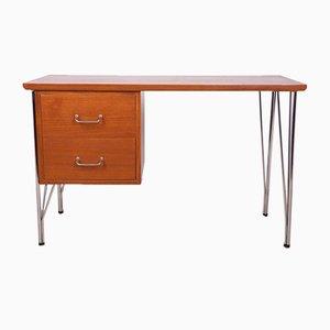 Mid-Century Danish Teak & Chrome Desk, 1960s