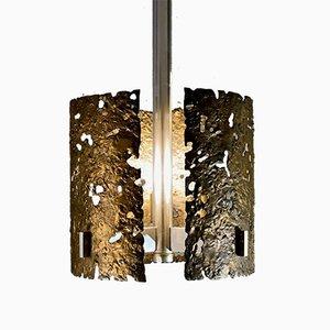Skulpturale Deckenlampe aus Bronze, Frankreich, 1970er