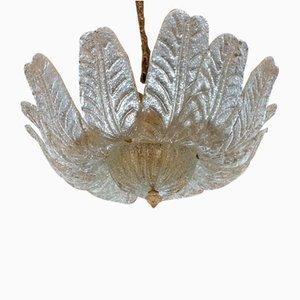 Lampada da soffitto in vetro di Murano, anni '30