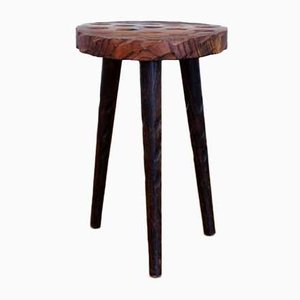 Solid Pine Stool, 1950s