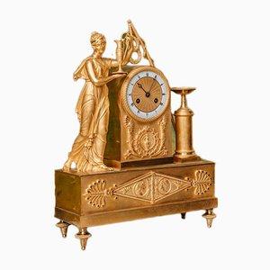 Antique Restoration Period Gilt Bronze Pendulum Clock