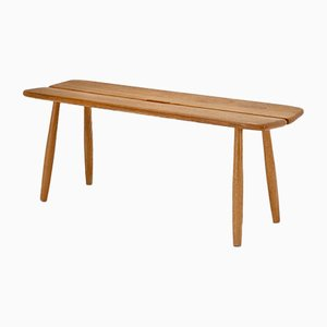 Swedish Oak Bench by Carl Gustaf Boulogner for AB Bröderna Wigells Stolfabrik, 1950s