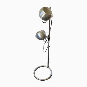 Lampada da terra vintage in metallo cromato di Goffredo Reggiani per Reggiani, anni '70