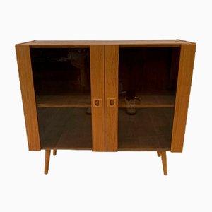 Scandinavian Teak Sideboard with Smoked Glass Doors, 1960s