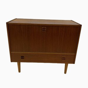Scandinavian Teak Vinyl Storage Unit, 1960s