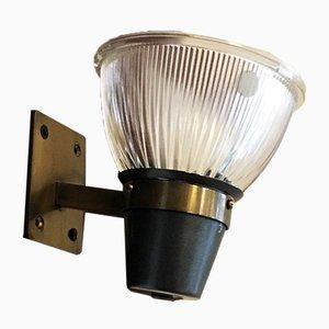 Italienische Moderne Mid-Century Messing Wandlampe von Ignazio Gardella für Azucena, 1960er