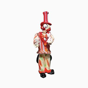 Clown Figurine with Mouse & Elephant by Dario Frare