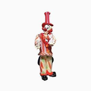 Figurine de Clown avec Souris et Éléphant par Dario Frare