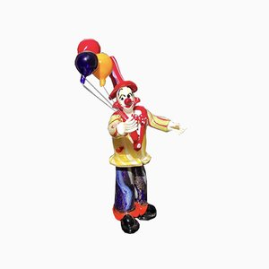 Clown Figurine with Balloons by Dario Frare