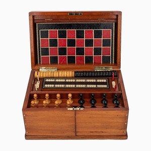 19th Century Victorian Mahogany Games Compendium, 1890s