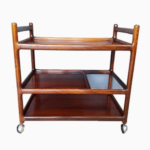 Mid-Century Danish Rosewood Trolley by Johannes Andersen for CFC Silkeborg, 1960s