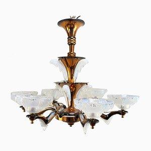 Vintage Art Deco Copper Ceiling Lamp from EZAN