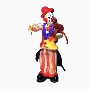 Clown Figurine with Monkey & Banana by Dario Frare