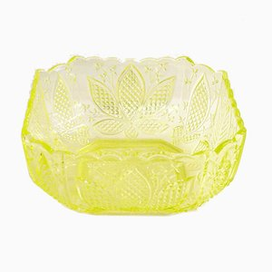 Antique Uranium Glass Tableware from Portieux