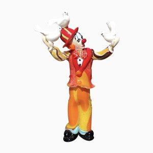 Clown Figurine mit Tauben von Dario Frare