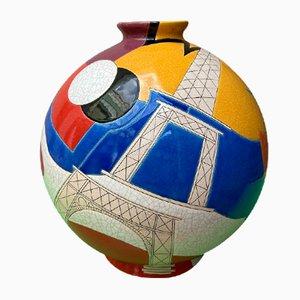 Vintage Vase von Danilo Curetti für De Longwy, 1980er