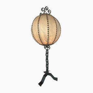 Brutalist Wrought Iron Table Lamp, 1970s