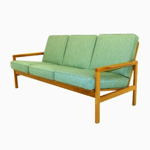 Swedish Oak 3-Seater Sofa, 1960s
