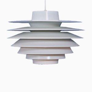 Große dänische weiße Verona Deckenlampe von Svend Middelboe für Nordisk Solar, 1960er
