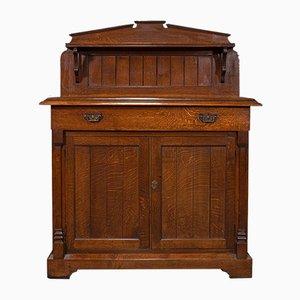Antique Scottish Oak Cabinet, 1860s