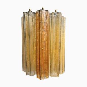 Large Tubular Murano Glass Sconces, 1970s, Set of 2