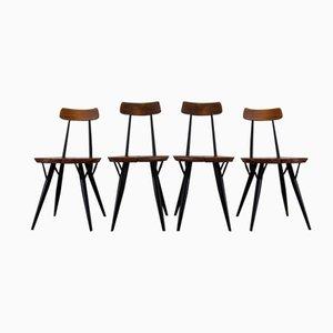 Pirkka Chairs by Ilmari Tapiovaara for Laukaan Puu, 1955, Set of 4