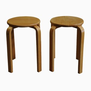 Bent Plywood E60 Stacking Stool by Alvar Aalto for Artek, 1980s