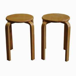 E60 Stapelstuliefer stapelbarer Schichtholz von Alvar Aalto für Artek, 1980er
