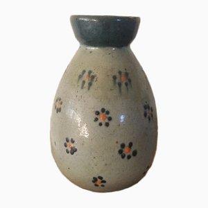 Antique Glazed Earthenware Open Neck Vase