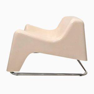 Italian Fiberglass Dining Chair, 1970s